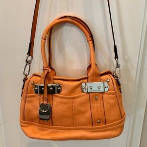 b.makowsky leather NWOT persimmon crossbody/handle